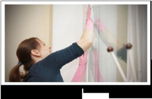 se vad som städas under en städning av ditt hem